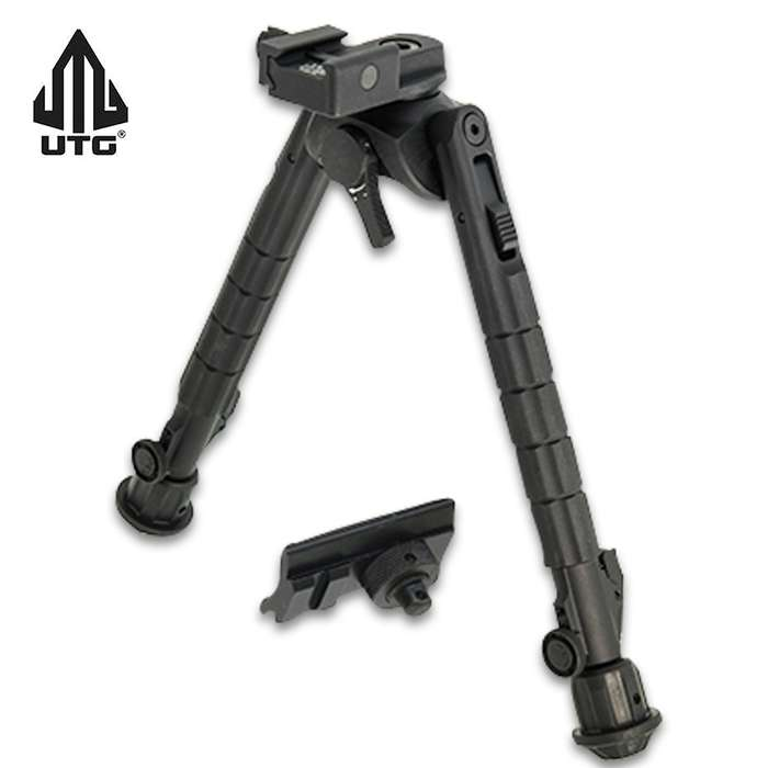 The UTG Recon 360 TL Bipod was designed with versatility in mind with its fine-tunable tension adjustment lever that applies the user desired amount of tension to the panning function