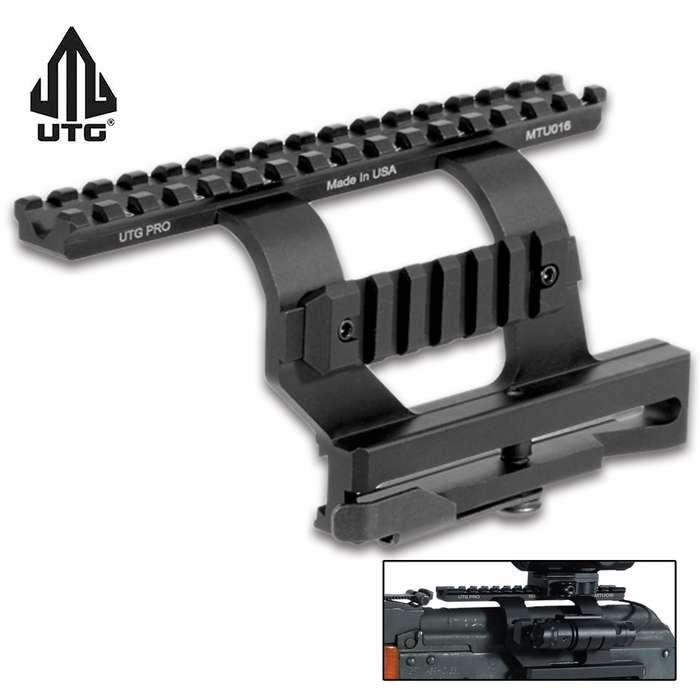 This AK Side Mount offers great zero holding and re-zeroing capability and fits most AK and variants with a side dovetail rail