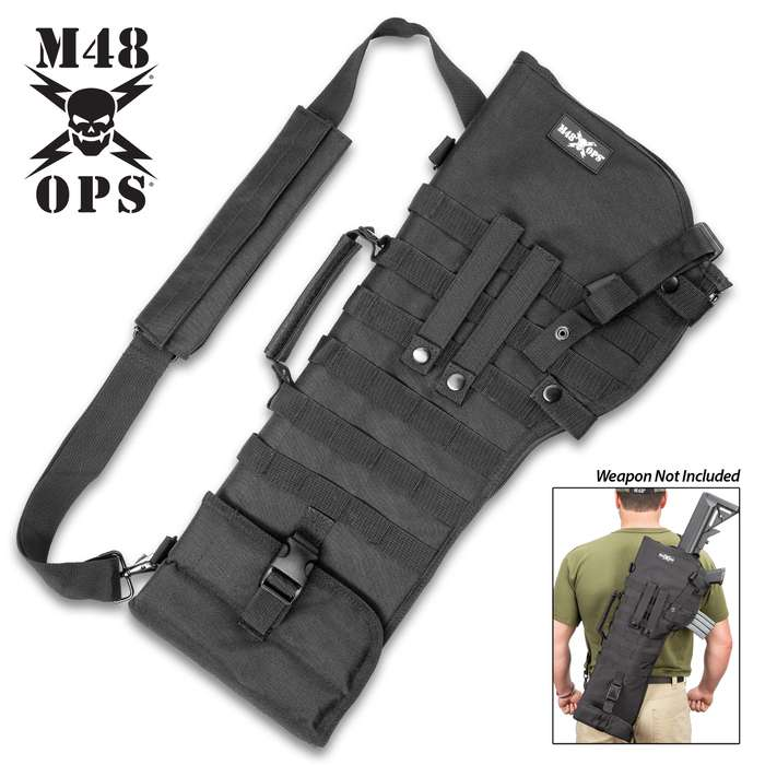 Tactical Rifle Scabbard - Also Fits AR15 And AK47