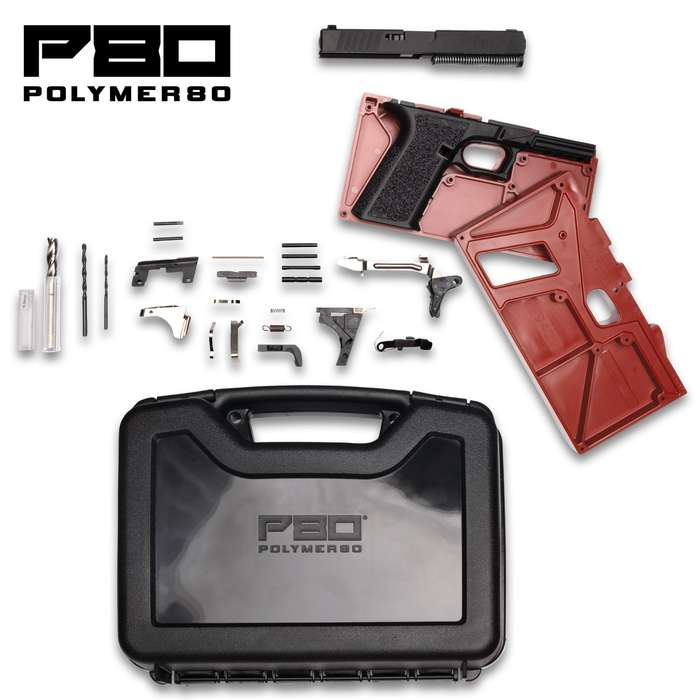 Buy Build Shoot 80% Full-Size 9MM Pistol Kit With 17-Round Magazine - All Necessary Components, Polymer Construction, Pistol Case Included