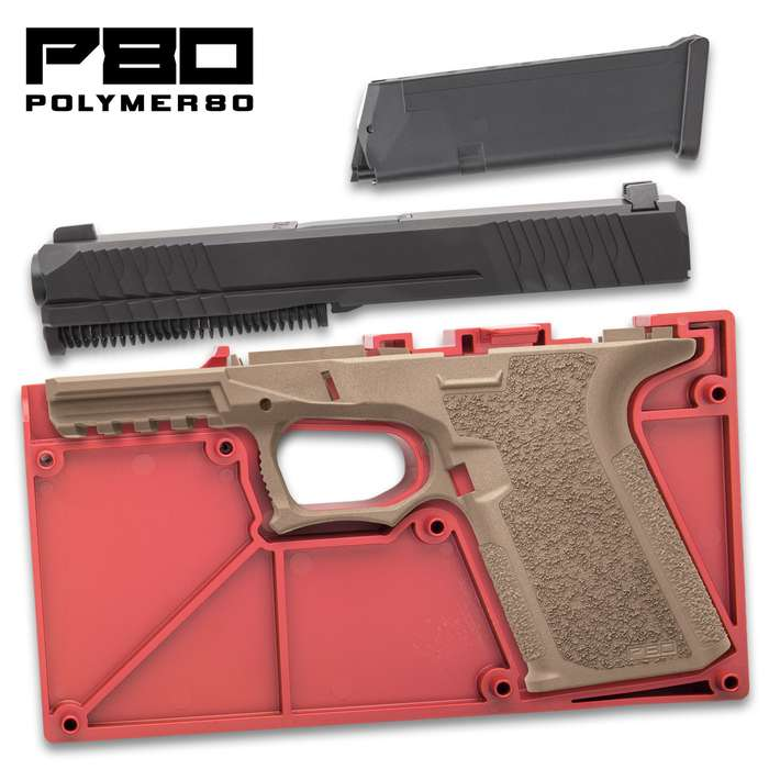 This Polymer80 Buy Build Shoot kit contains all the necessary components to easily build a complete PF940C pistol