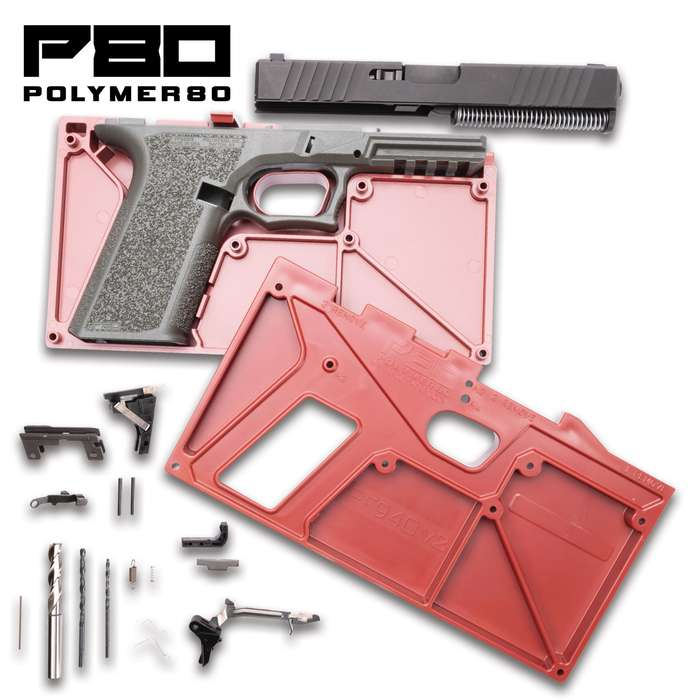 The Polymer80 PF940v2 Buy Build Shoot Kit contains all the necessary components to build a complete PF940v2 pistol