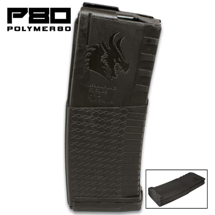 Polymer80 Black AR-15 .50 Beowulf Magazine - 10-Round, Polymer Construction, Lightweight