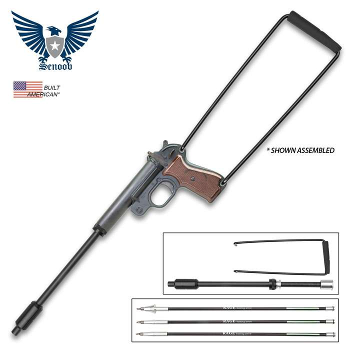 Runway Sub-Cal Flarr-o Arrow Firing Launcher Kit - Designed To Fit Flare Launcher, Three Arrows Included, Launches Arrows 400 FPS