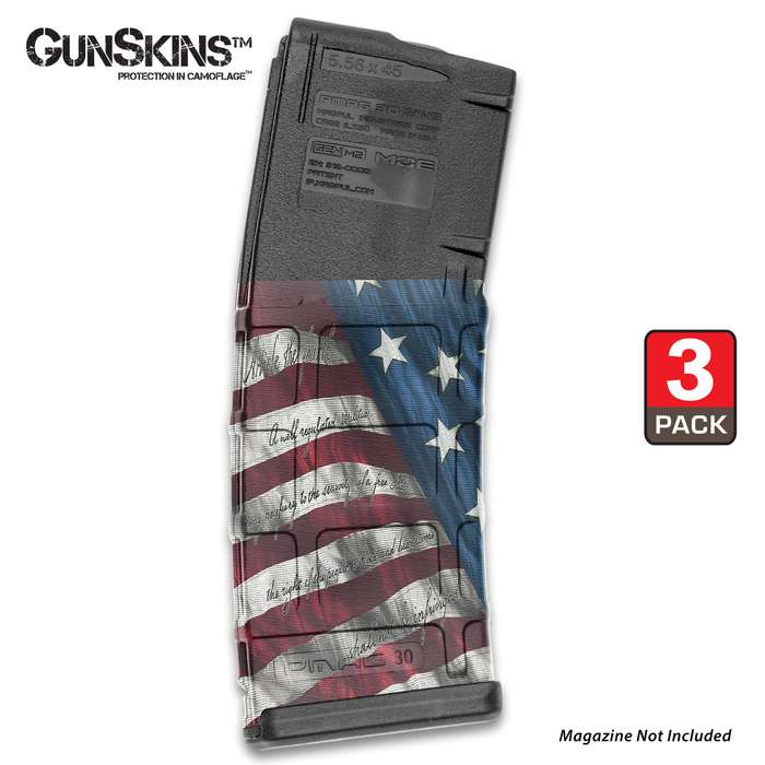 GunSkins AR-15 Mag Skins provide a simple and economical way to protect and identify your magazines to make sure you reload with the correct caliber every time
