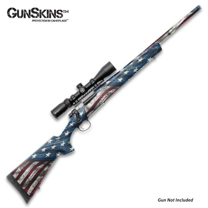 """The GunSkins Proveil Victory Rifle Skin is a universal kit, designed to fit any rifle with a barrel length up to 29"""""""