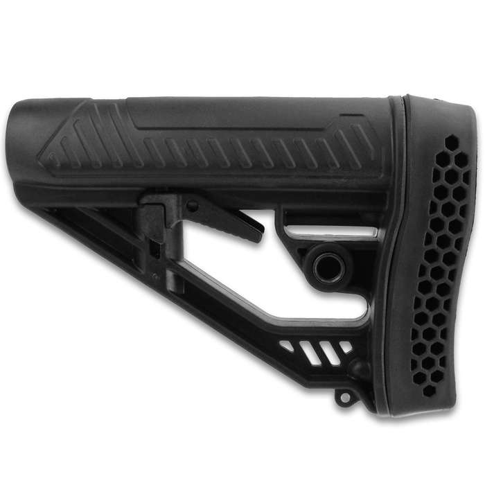 This high-quality, Six-Position Stock with Buttpad offers the ultimate in versatility to outfit your AR for your needs