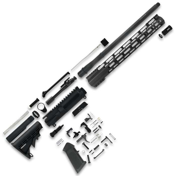 "The TacFire 16"" Unassembled .300 Blackout Rifle Build Kit contains all the parts you need to custom build your own 16"" barreled rifle"