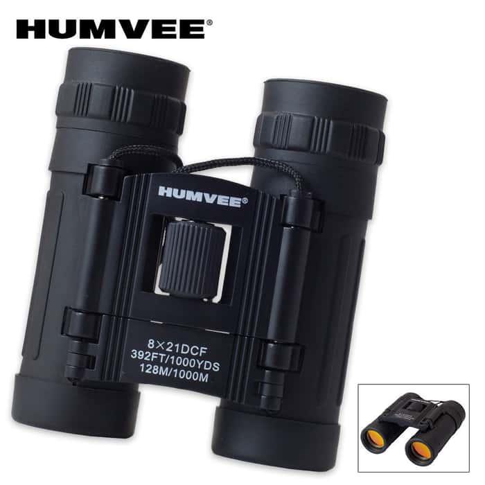 Humvee Compact Binoculars 8x21
