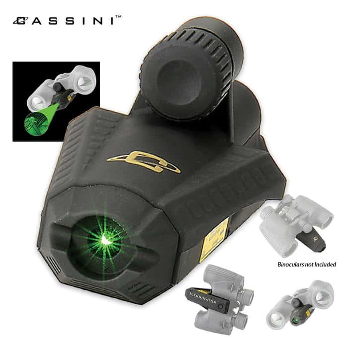 Green Laser Night Illuminator For Binoculars
