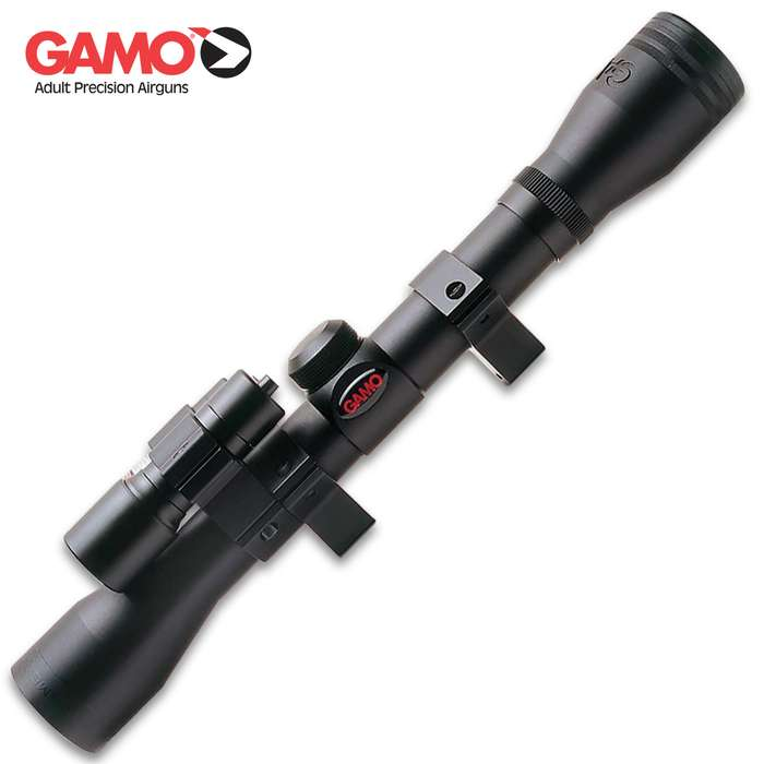 The Gamo Varmint Hunter 4x32 Riflescope Kit with Light and Laser is great for fast varminting during the day or night