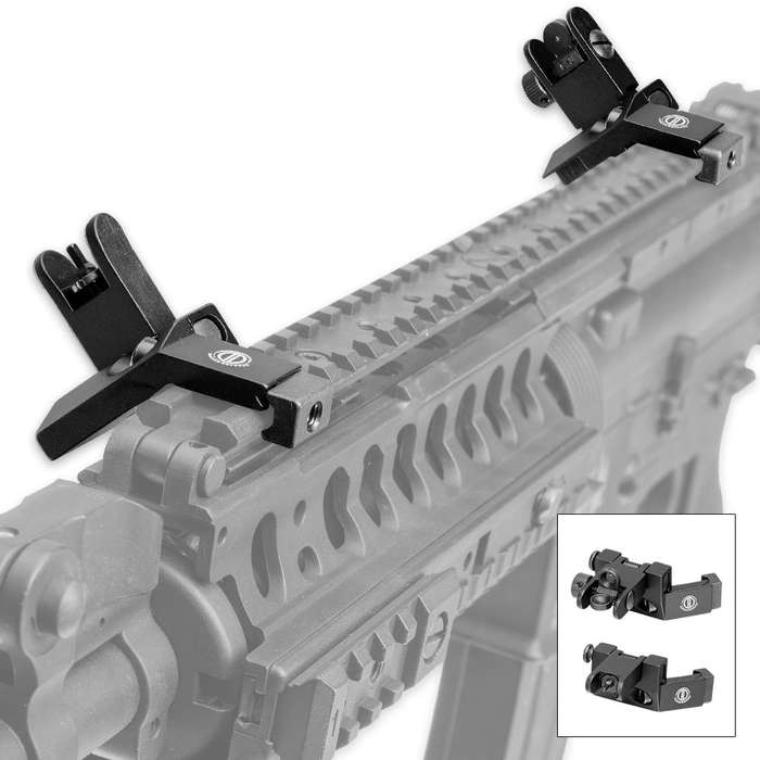 Ghost Viper Tactical Iron Backup 45-Degree BUIS Sights - Front-Rear