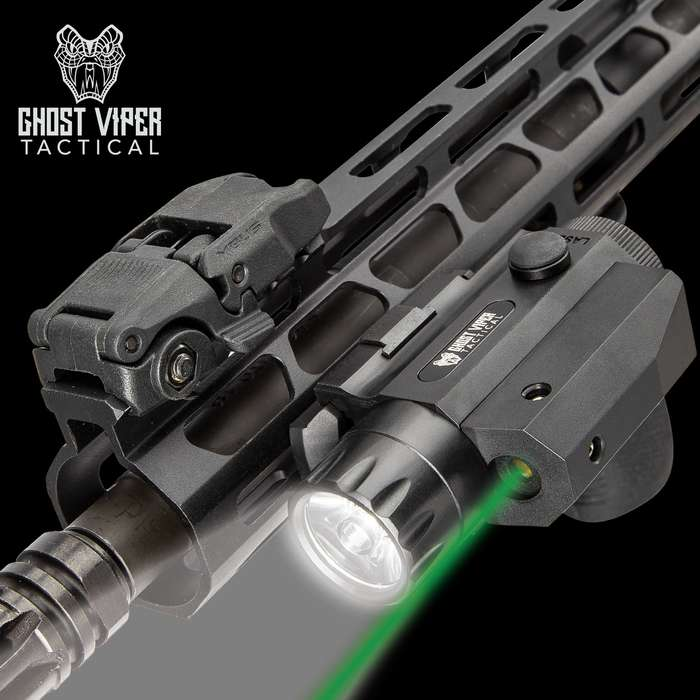Ghost Viper Tactical 300 Green Laser And Flashlight Combo - 300 Lumens, Sturdy TPU Housing, Weapons Mount Clamping Block, Windage/Elevation Adjustment