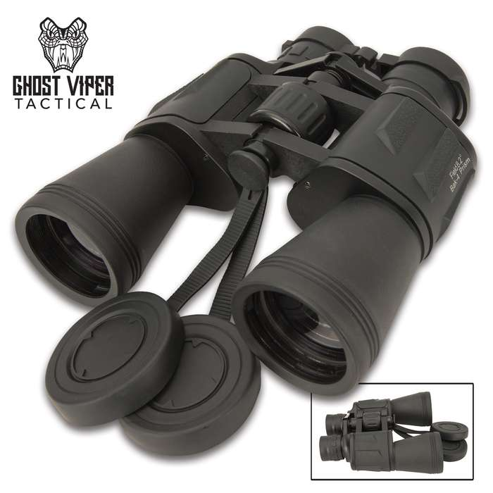 Take the Ghost Viper Tactical Black Binoculars with you when you're on a mission, out trekking, on the hunt, or even birdwatching