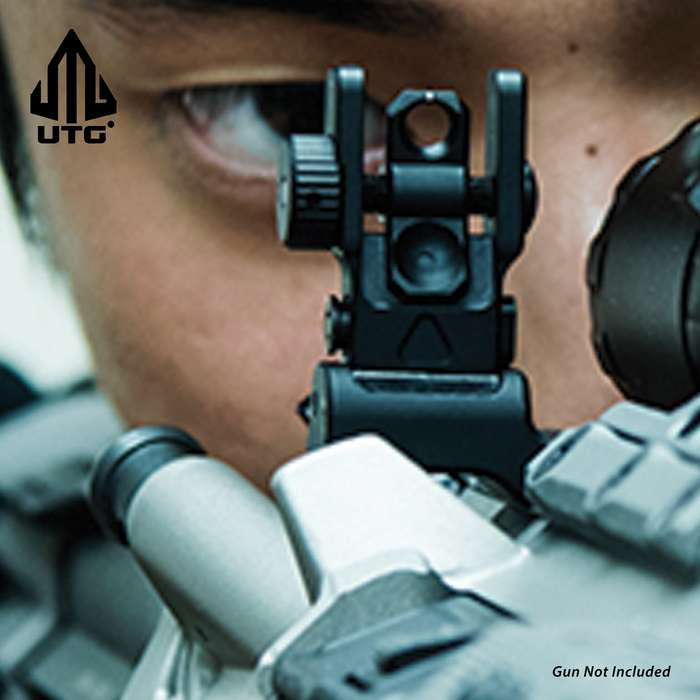 The rear sight utilizes a single locking Torx screw with a low-profile mounting base and a square-shaped integral recoil stop