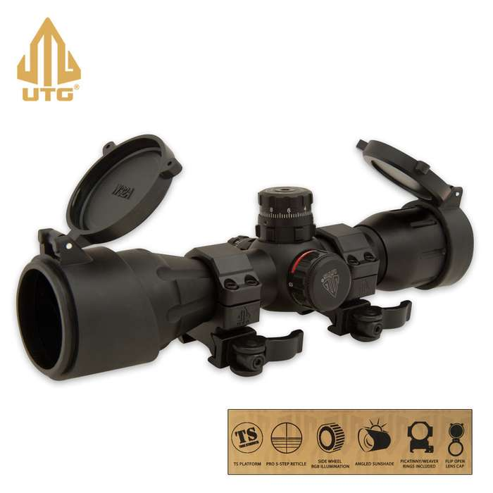 UTG 4X32 Wide Angle Crossbow Scope  5-Step Illumin