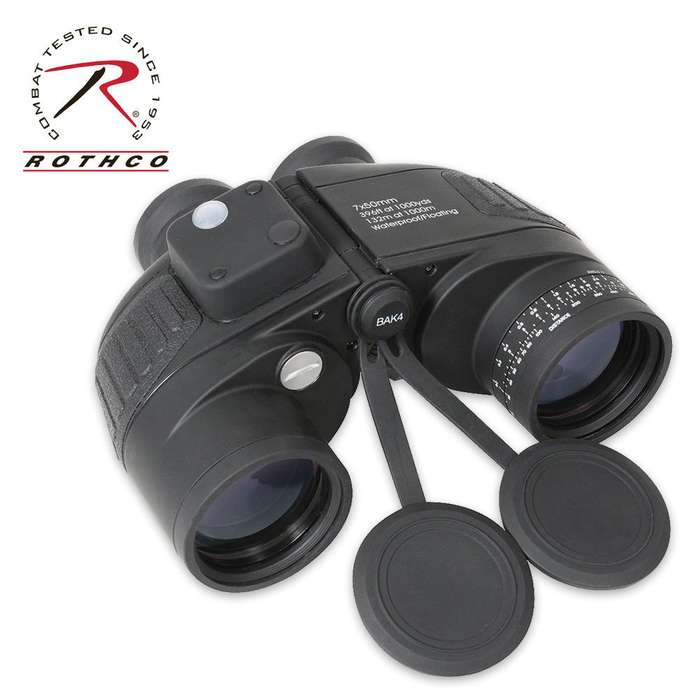 Black Military Type 7x50mm Binoculars