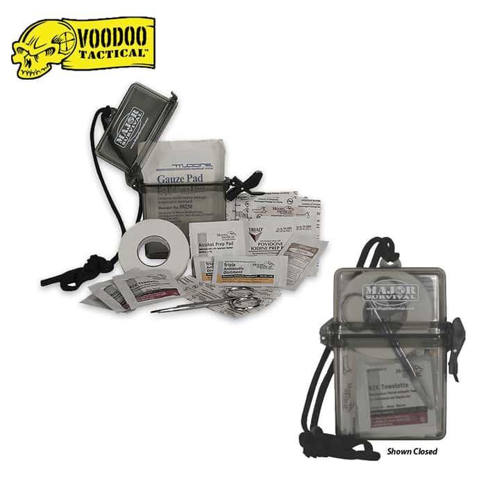 Mil-Spec Waterproof Survival First Aid Kit