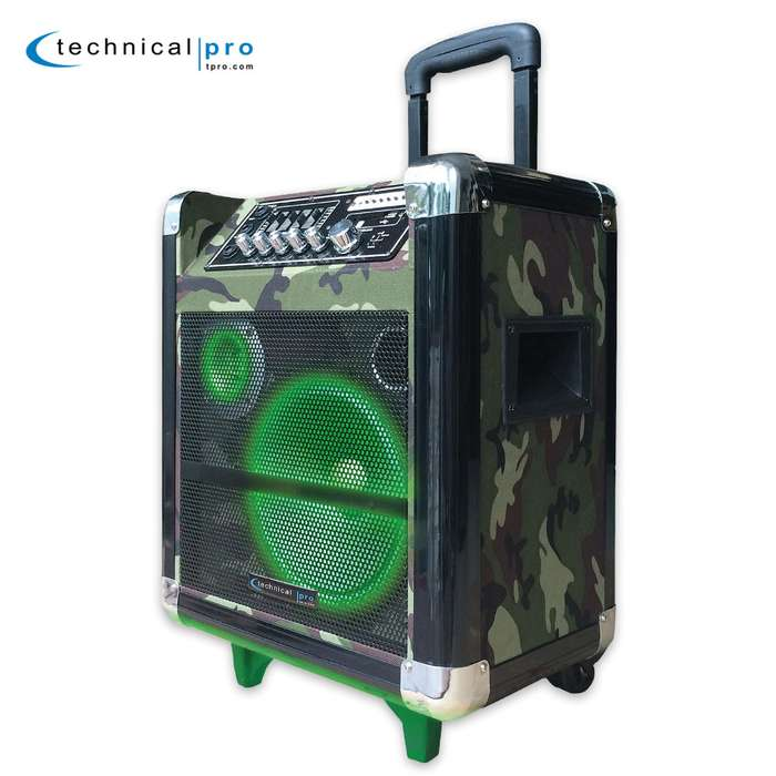 """8"""" Portable PA System With Rechargeable Battery"""