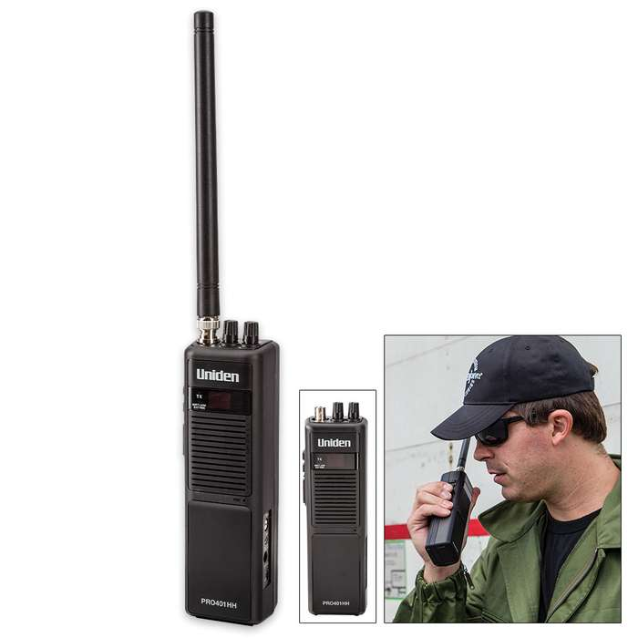 Uniden PRO401HH Hand-Held 40-Channel CB Radio