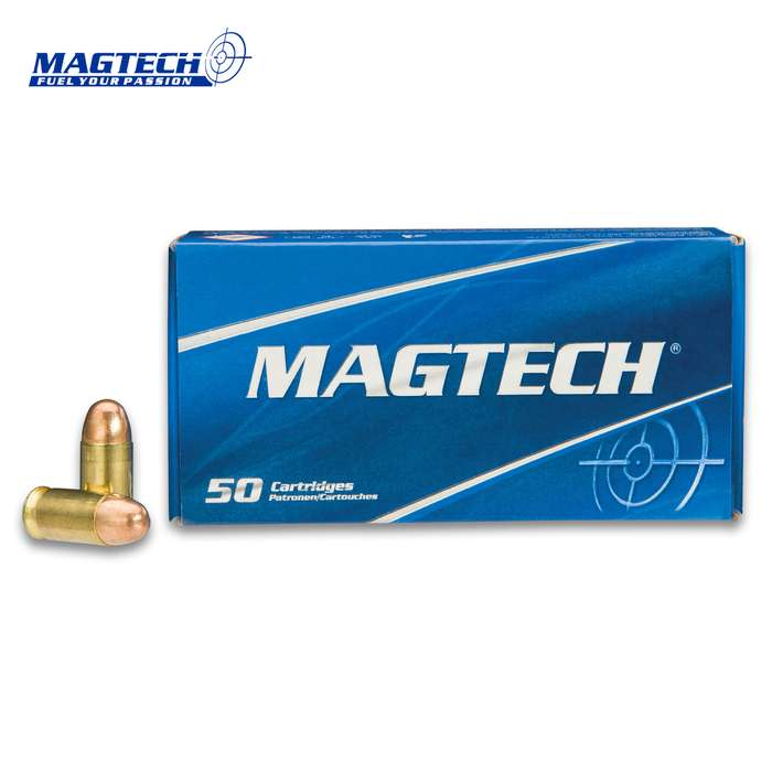 Magtech .380 Automatic 85gr Full Metal Jacket (FMJ) Ammunition - Box of 50 Rounds - Military Law Enforcement Self Defense Target Range Competition Match Grade