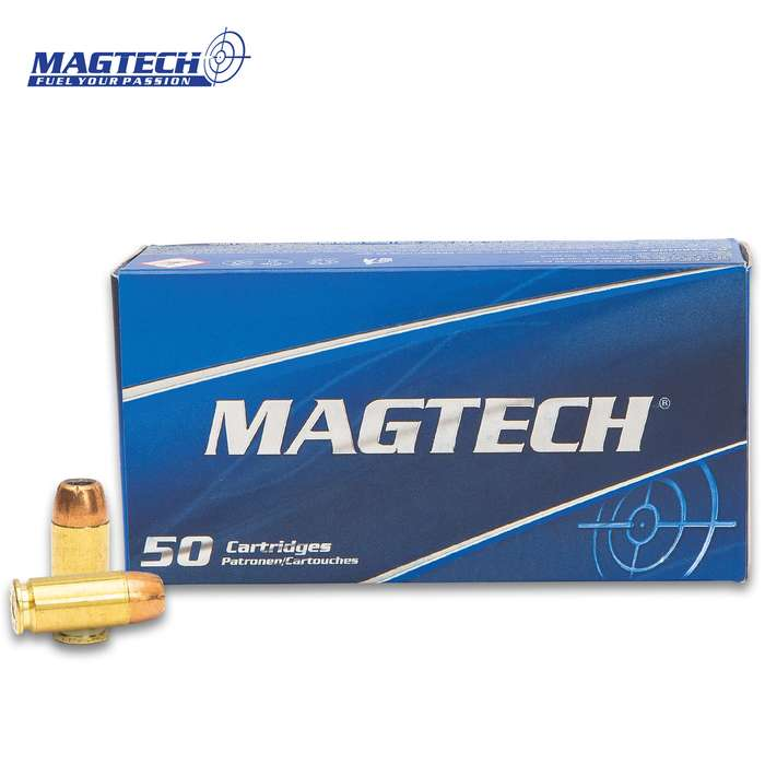Magtech ammunition offers professional quality at an economy price and this is a box of 50 rounds of 40 Smith & Wesson JHP