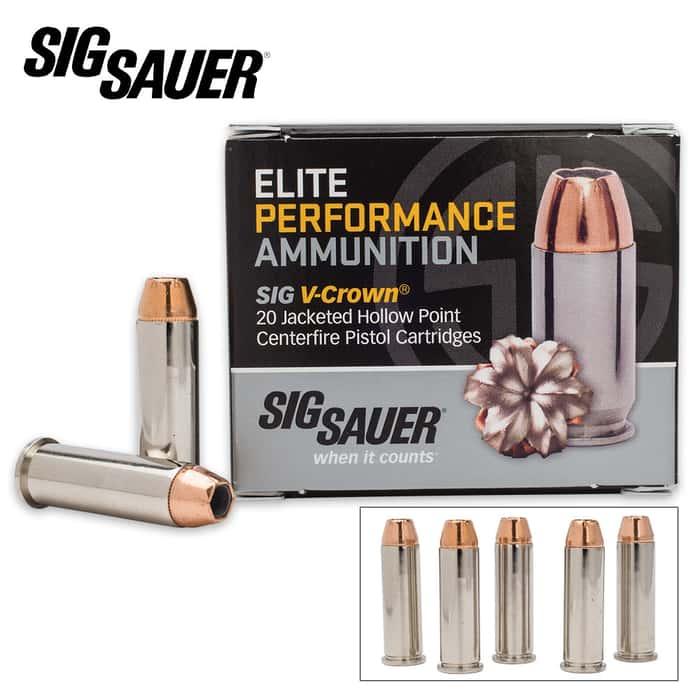 SIG Sauer Elite V-Crown .38 SPL 125gr JHP Ammo - Box of 20