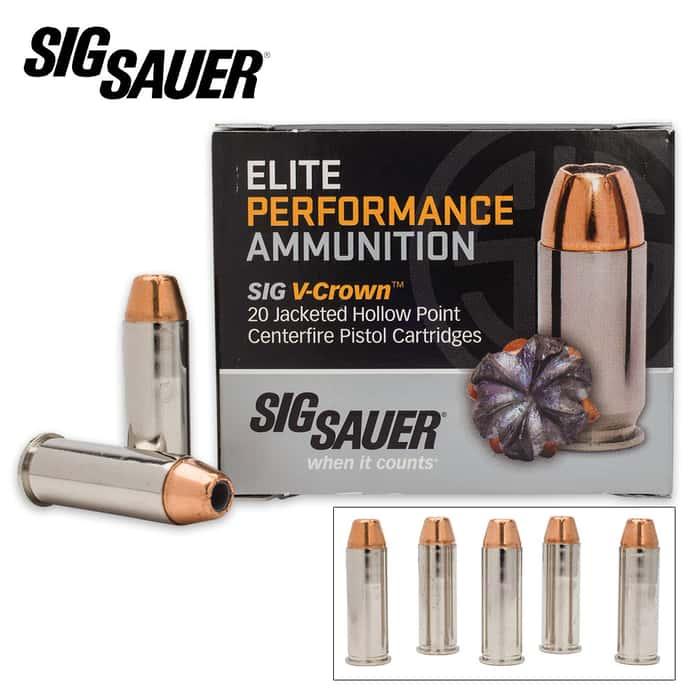 SIG Sauer Elite V-Crown .44 Mag 240gr JHP Ammo - Box of 20