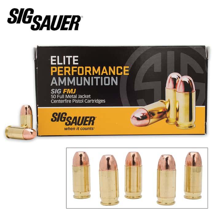 SIG Sauer Elite .380 Auto 100gr FMJ Ammo - Box of 50