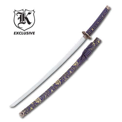 Sapphire Warrior Katana with Sheath