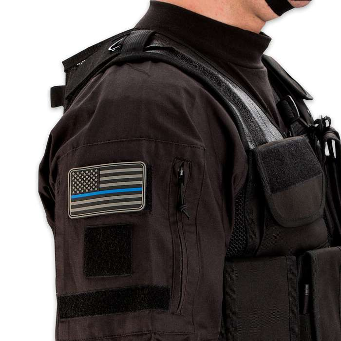 Thin Blue Line PVC Patch