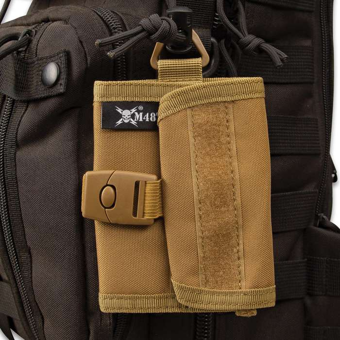 """M48 OD Canvas Wallet With Buckle - Sturdy Canvas Construction, ABS Buckle, Several Pockets, Velcro Patch Strips - Dimensions 4""""x 4 3/4"""""""