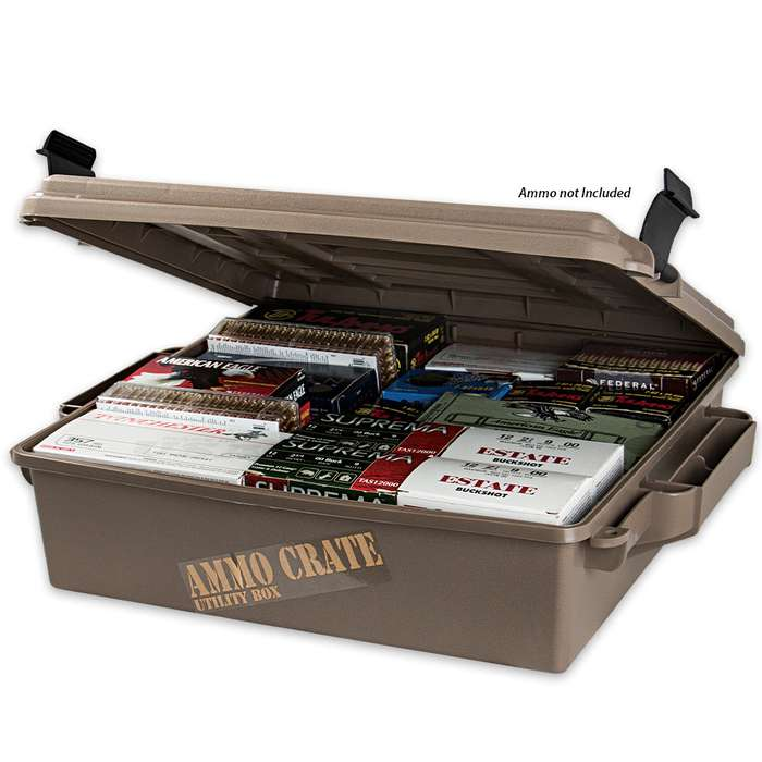 MTM Ammo Crate Utility Box ACR5 85-lb Capacity - Polypropylene Construction, O-Ring Seal System - Store Up To 20 Boxes Of Ammo