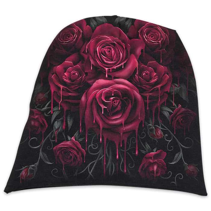 Blood Rose Cotton Beanie - Hat