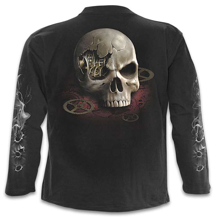 Steam Punk Bandit Black Long-Sleeved T-Shirt - Top Quality Cotton Jersey Material, Azo-Free Reactive Dyes, Original Artwork