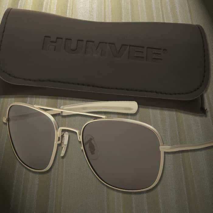 Aviator Pilot Sunglasses - 52 mm Polarized - Silver