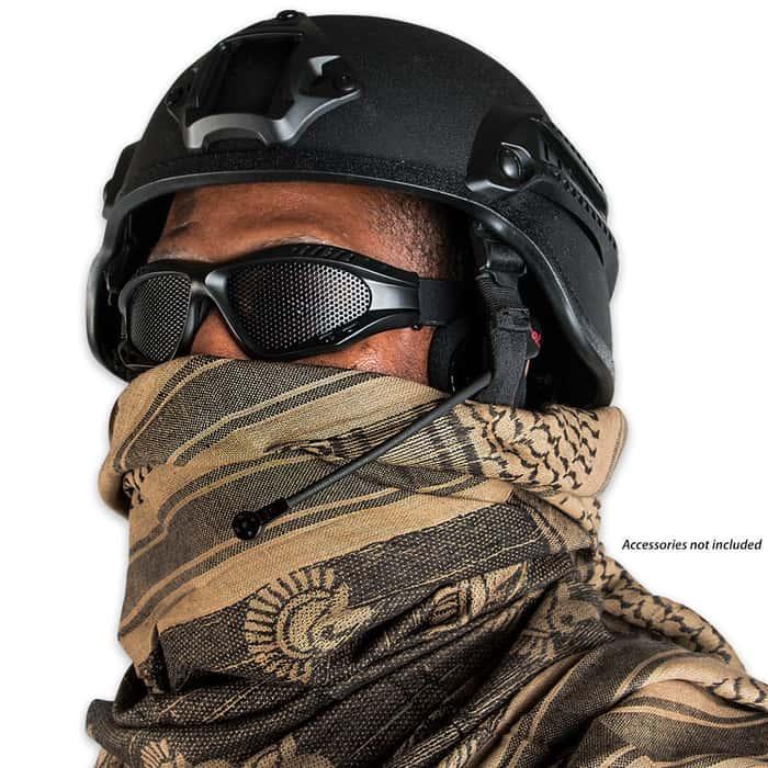 Spartan Reversible Shemagh Head Wrap Black & OD