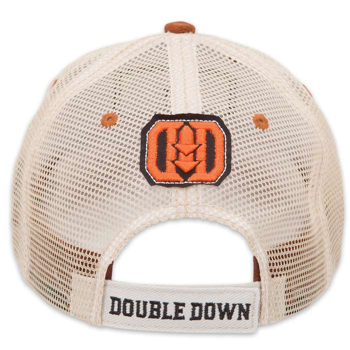 Double Down Jackass Trucker Cap - Dark Brown Brushed Twill and Tan Polyester Mesh