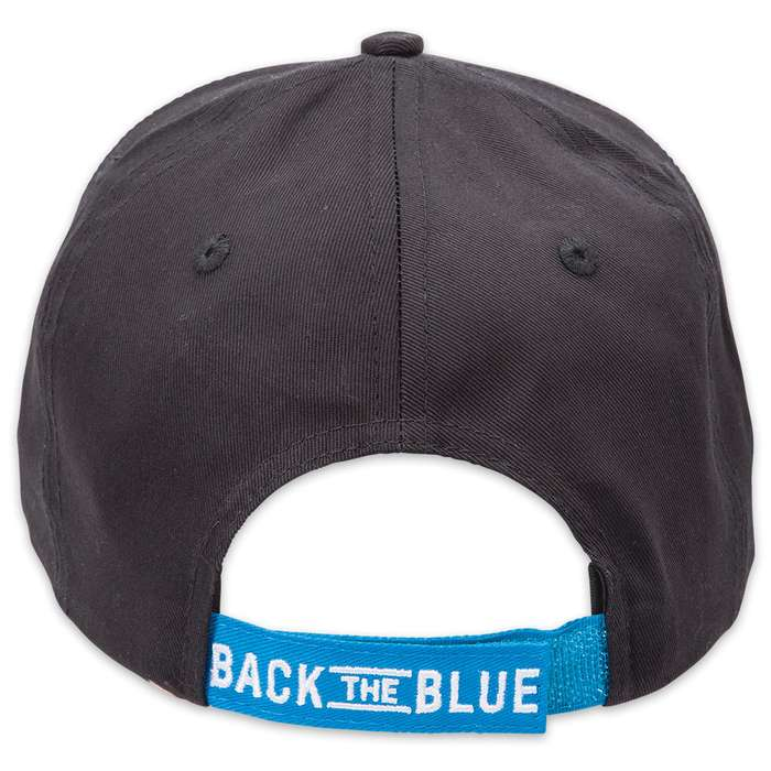Double Down Back the Blue Romans 13:4 Light Twill Cap - Available in Black or Gray
