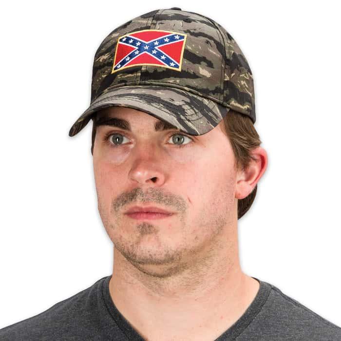 Double Down Rebel Flag Camo Cap - Hat
