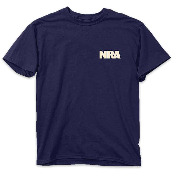 Buckwear NRA Shot Gun Flag Navy T-Shirt