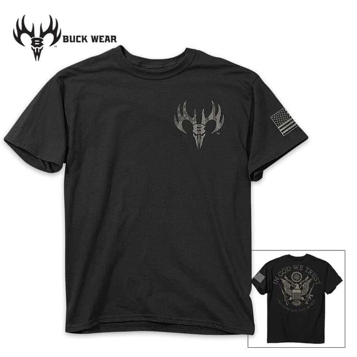 God We Trust Men's Black T-Shirt