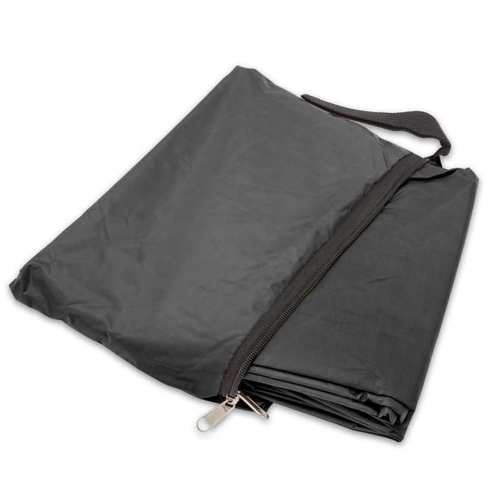 "Black Poncho With Built-In Hood - Military Grade, Unisex - Waterproof, Grommeted Corners - 90 1/2""x56 3/4"""