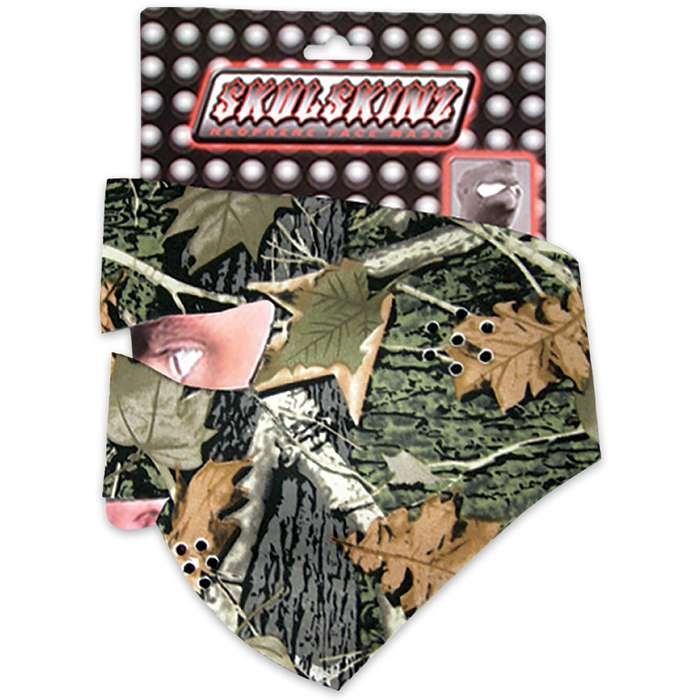 Hunting Camp Camo Neoprene Face Mask