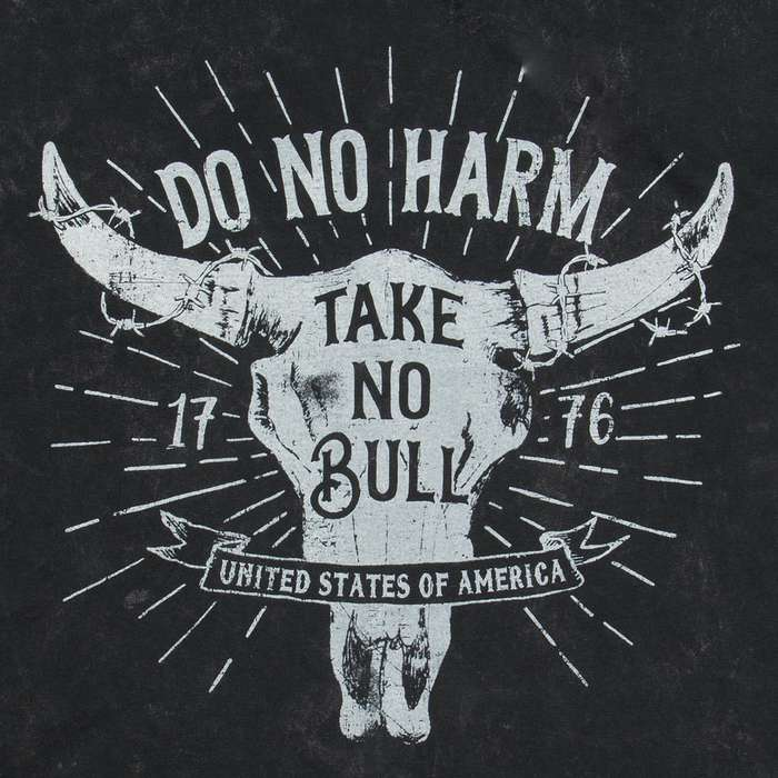 Take No Bull Washed Black T-Shirt