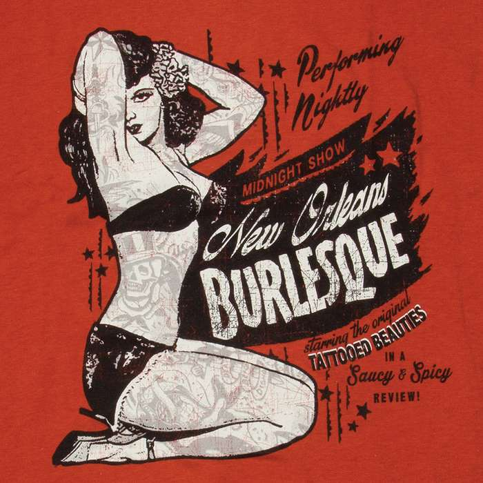 Midnight Burlesque Show Tomato Red T-Shirt