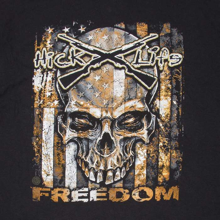 Hick Life American Flag Freedom T-Shirt - Long-Sleeve