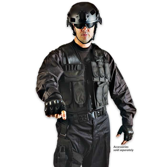 M48 OPS - XL - Tactical Law Enforcement Half Finger Glove Black