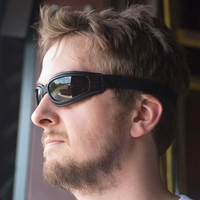 Folding Tactical Goggles Smoke Lens