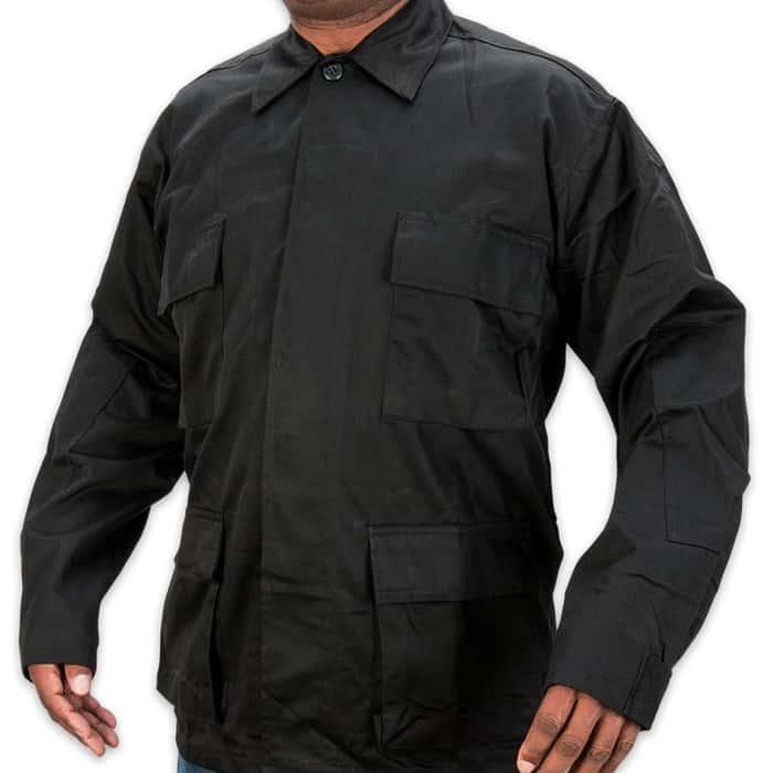Basic BDU Uniform Top Black